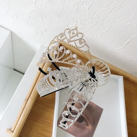 diadema barroca de diamantes de imitación de perlas de aleación NHSM303607's discount tags