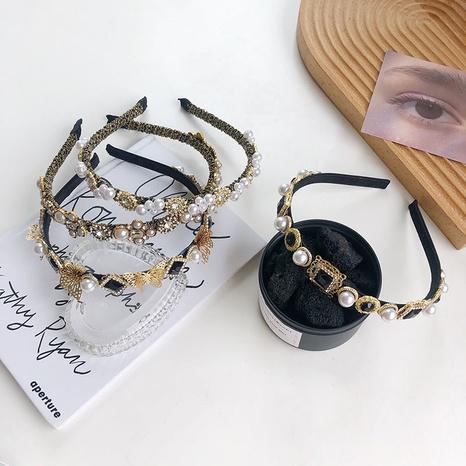 diadema barroca con perlas retro NHSM303611's discount tags