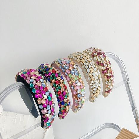 diadema de esponja lateral ancha con diamantes NHSM303612's discount tags