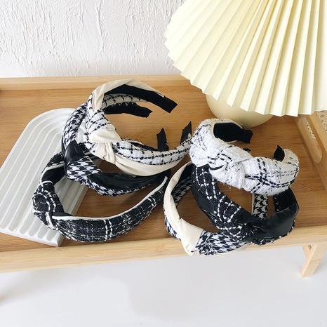 Retro-Wollstirnband mit breiter Krempe NHSM303623's discount tags