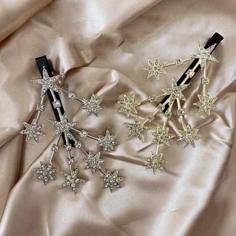 pinza de pelo de moda de plata de diamantes de imitación de metal NHSM303629's discount tags