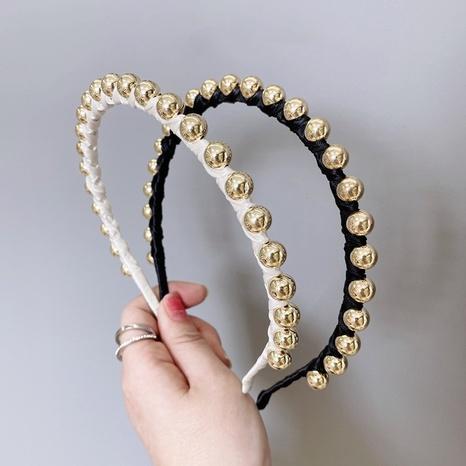 Mode Perlen Stirnband aus Seide und Satin NHSM303632's discount tags