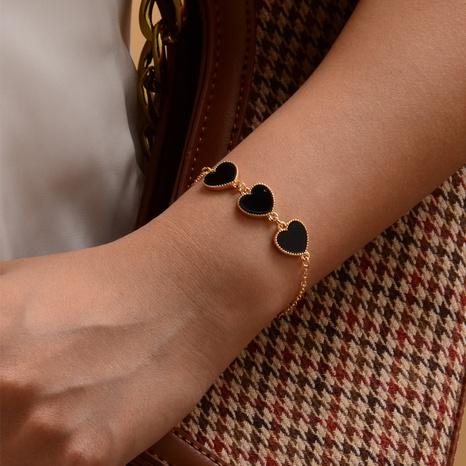 Peach heart fashion bracelet NHOT305071's discount tags