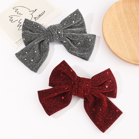 Korean new cute glitter bow clip NHAU304195's discount tags