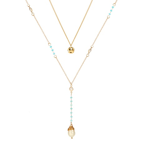 legierungsblaue Kristallperlenkette NHAN304215's discount tags