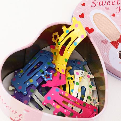 New Korean children's crown metal spray paint bangs hairpin NHNU304216's discount tags