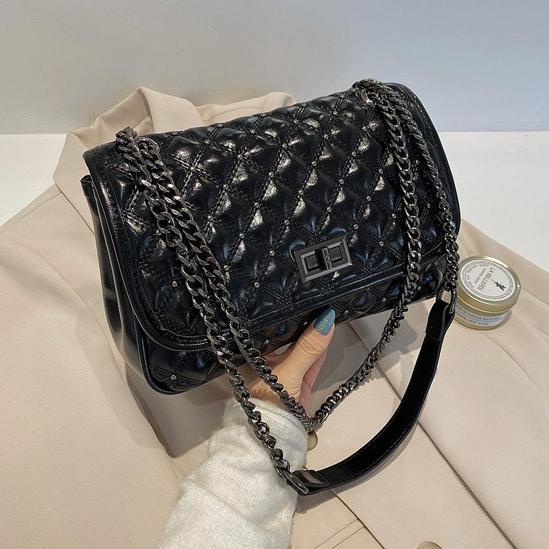 embroidery thread rhombus chain bag NHTG304295