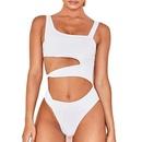 nouveau bikini sexy une pice creux irrgulier de couleur unie NHHL304365
