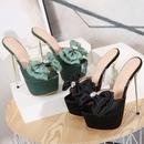 sandalias stiletto de satn con lazo grande y diamantes de imitacin NHSO304434
