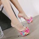 sandalias con plataforma stiletto transparente rosa camuflaje NHSO304444