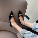 spring new fashion pointed toe metal buckle shoes NHHU304521