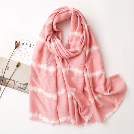 cotton linen long simple pink silk scarf  NHGD304561's discount tags