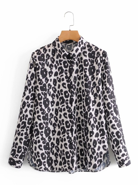new fashion lapel animal print single row button casual shirt  NHAM304569's discount tags