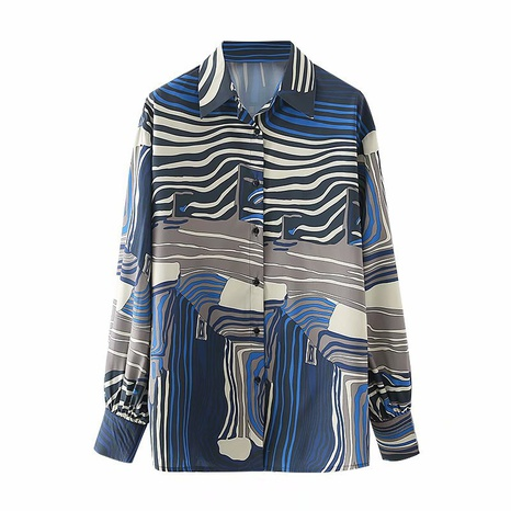 fashion digital casual long-sleeved sunscreen shirt NHAM304571's discount tags