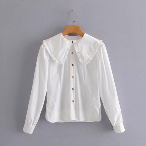 fashion new low collar long sleeve shirt NHAM304585's discount tags