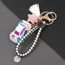 fashion alloy resin diamondstudded cartoon keychain  NHJE304605