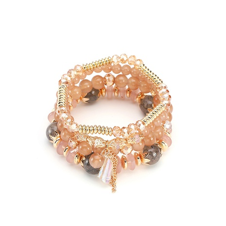 simple ethnic bohemian style crystal bracelets NHBD304638's discount tags