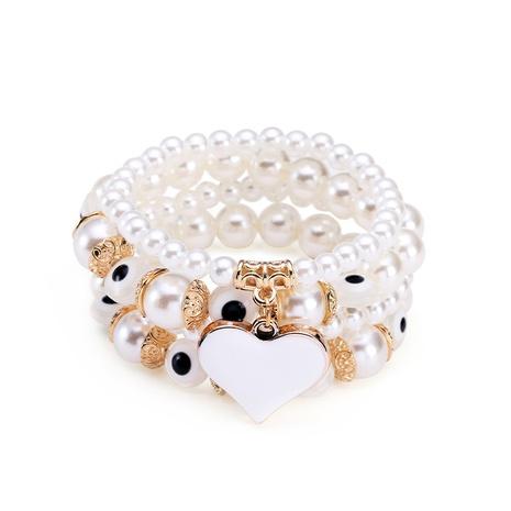 Bohemian Beaded Simple Multilayer Pearl Love Bracelet NHBD304647's discount tags