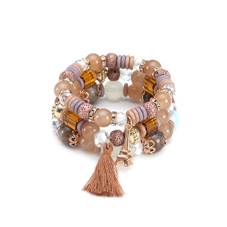 New ethnic style bohemian beaded bracelet NHBD304648's discount tags