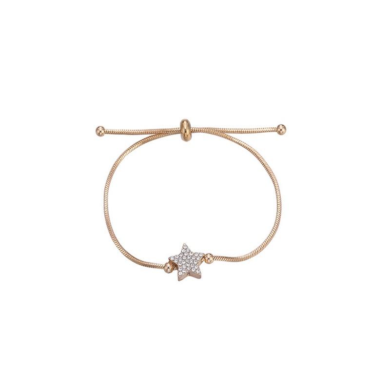 nouveau bracelet toile  cinq branches diamant ajustable simple NHBD304677