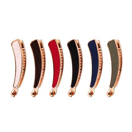 Épingle à cheveux en velours doré à dents simples coréennes NHBE304701's discount tags