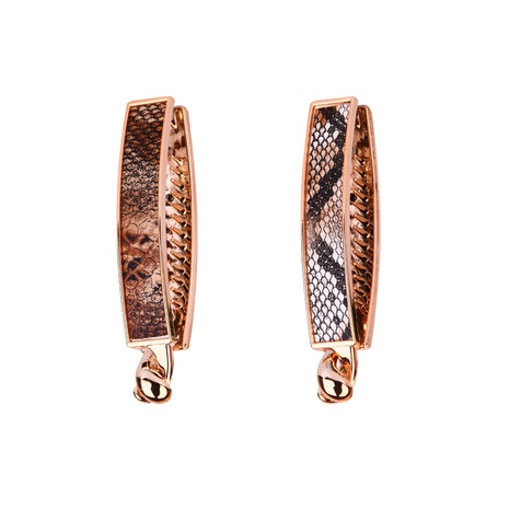 simple snake skin gold UV oval banana clip NHBE304713's discount tags