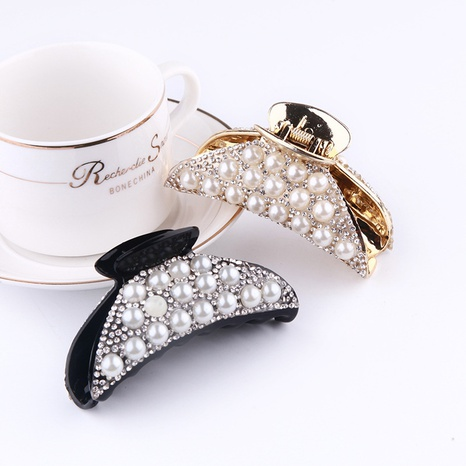 fashion pearl diamond catch clip NHBE304724's discount tags