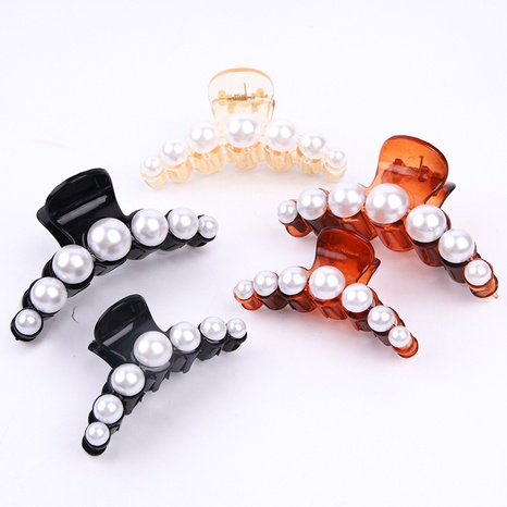 Korean fashion new pearl diamond clip NHBE304731's discount tags