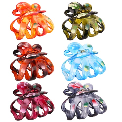large painted colorful hair catch clip NHBE304738's discount tags