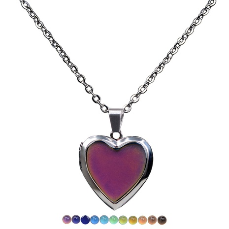 temperature-sensing color-changing heart necklace  NHBI304756's discount tags