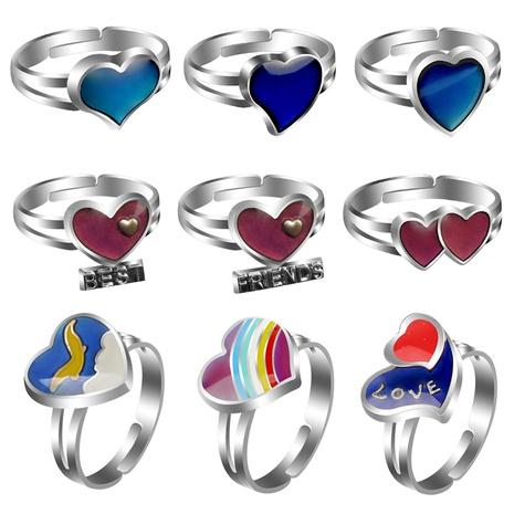 simple classic cute peach heart love couple ring  NHBI304764's discount tags