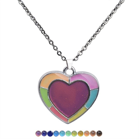 fashion luminous heart pendant necklace NHBI304785's discount tags