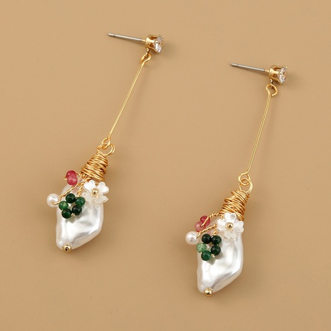 vintage exquisite natural stone earrings NHAN304833's discount tags