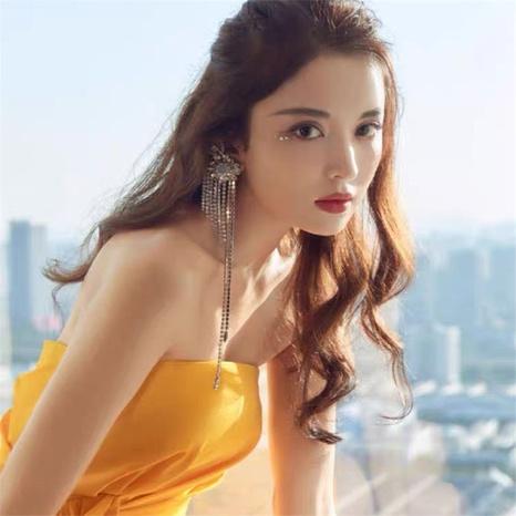 long flashing diamond tassel chain earrings  NHYQ304894's discount tags