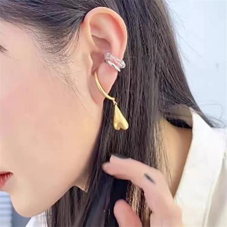 simple retro golden heart shape earrings NHYQ304895's discount tags