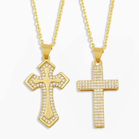 collar con colgante de cruz NHAS304929's discount tags