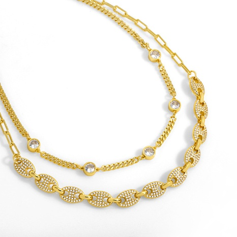 stitching full diamond necklace NHAS304932's discount tags