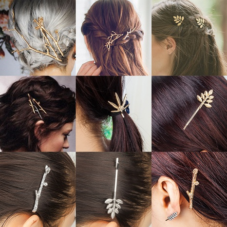 simple fashion trendy metal branches women's hairpins NHDP304951's discount tags