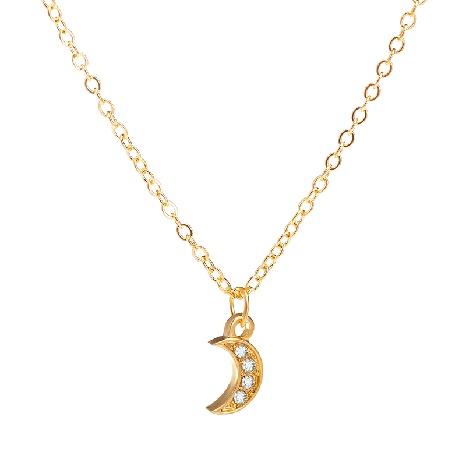 collar de diamantes con colgante de luna simple NHDP304954's discount tags