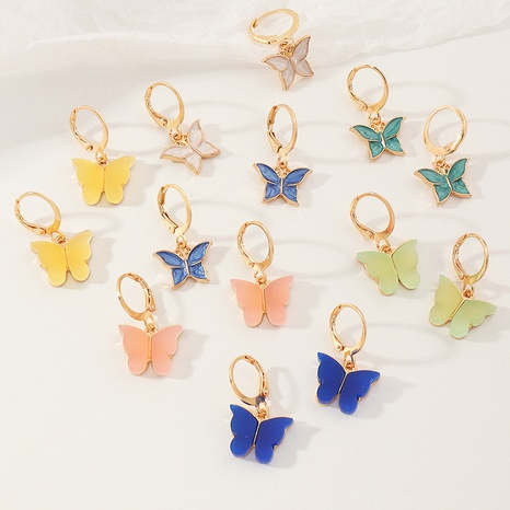 fashion butterfly simple acrylic earrings NHNZ304961's discount tags