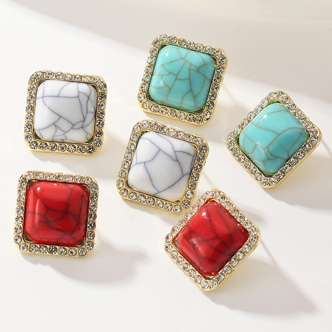 fashion simple square resin earrings NHNZ304962's discount tags