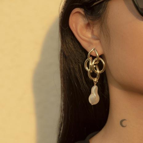 Baroque imitation pearl retro earrings NHXR304965's discount tags