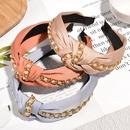 Korean fashion pearl chain knotted hair band NHAQ304999