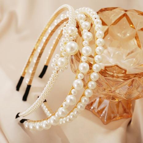 simple pearl retro headband NHYI305016's discount tags
