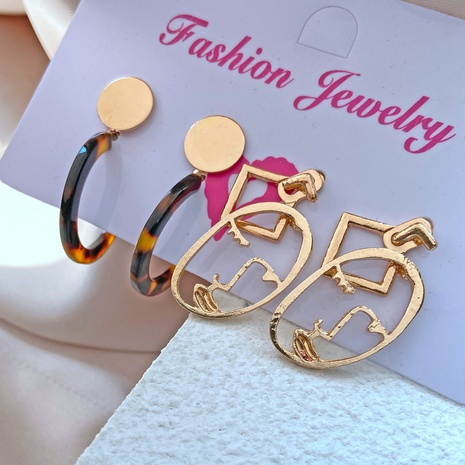 retro simple alloy resin earrings set NHYI305034's discount tags