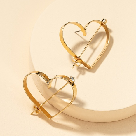 fashion heart gemstone earrings  NHGU305062's discount tags