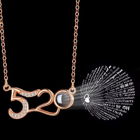 100 Sprachen Ich liebe dich Anhänger Halskette NHRN304687's discount tags