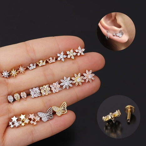 New fashion micro-inlaid zircon earrings NHEN305076's discount tags