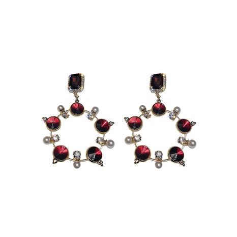 Boucles d'oreilles en argent 925 avec cristal et perles NHQC305081's discount tags