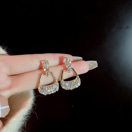 925 silver needle diamond bag-shaped earrings  NHQC305080's discount tags